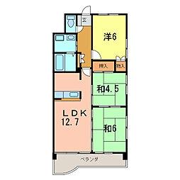 マンションリバーストーン[4階]の間取り
