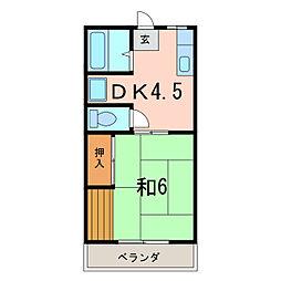 サンハイツコグシ[1階]の間取り
