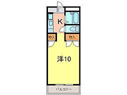 プラチナハイツ安井II[2階]の間取り