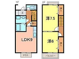 [テラスハウス] 愛知県刈谷市一色町1丁目 の賃貸【愛知県 / 刈谷市】の間取り