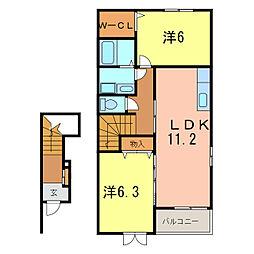 プティフォレットB[2階]の間取り