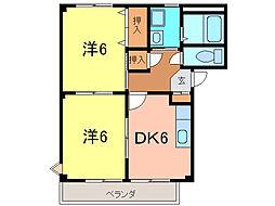 サープラス ドミール[2階]の間取り