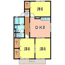 ぷらっとMIYUKI W[1階]の間取り