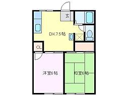 トマトの家A[1階]の間取り