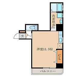 M・ほおずき[7階]の間取り