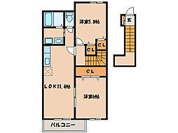 サンモール・N III[2階]の間取り