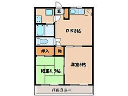 パークヒル古前城[4階]の間取り