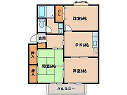ディアスさくらA棟B棟[1階]の間取り