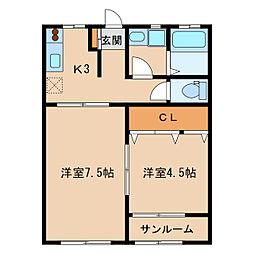 ラ  メール[2階]の間取り