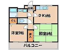 エメラルドマンション[203号室]の間取り