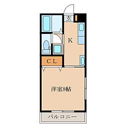 西山寿マンション[201号室]の間取り