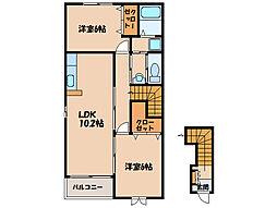 YSコート壱番館I、II、III[2階]の間取り