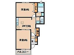 YSコート壱番館I、II、III[1階]の間取り