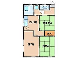 大窪アパート[2階]の間取り