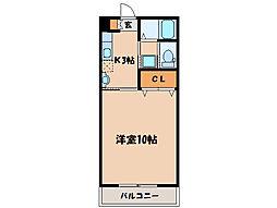 第二札元大丸マンション[106号室]の間取り
