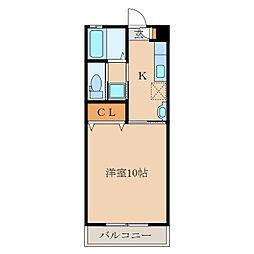第二札元大丸マンション[107号室]の間取り