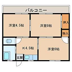 福元アパート[2階]の間取り