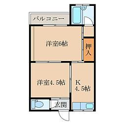 南マンション[2階]の間取り