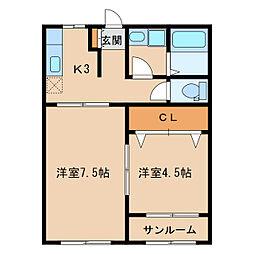 サンタルチア[1階]の間取り