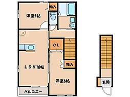 フローラ II号棟[1階]の間取り
