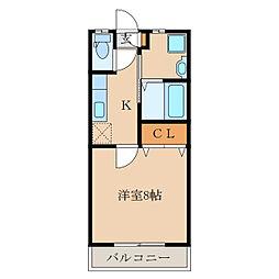 ピンクローズ[1階]の間取り