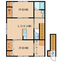 札元2丁目新築アパート(仮称[202号室]の間取り
