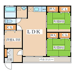 吉満住宅[3階]の間取り