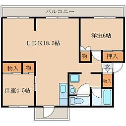 MORUハイツA棟[4階]の間取り