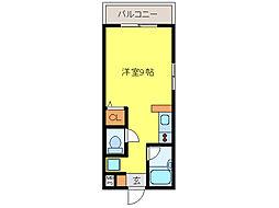 JR長崎本線 道ノ尾駅 徒歩6分の賃貸マンション 1階ワンルームの間取り