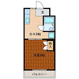 静岡県浜松市中区早出町の賃貸マンションの間取り