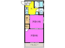 静岡県浜松市南区都盛町の賃貸アパートの間取り