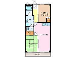 愛知県名古屋市緑区滝ノ水4の賃貸マンションの間取り