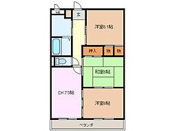 愛知県名古屋市緑区徳重3丁目の賃貸マンションの間取り