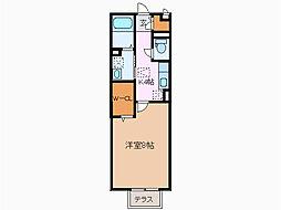 カサベルテ黒沢台[2階]の間取り