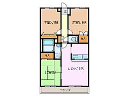 サニーヒル神の倉II[2階]の間取り