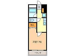 愛知県名古屋市緑区姥子山2丁目の賃貸マンションの間取り