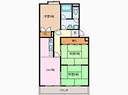 愛知県名古屋市緑区相川2丁目の賃貸マンションの間取り