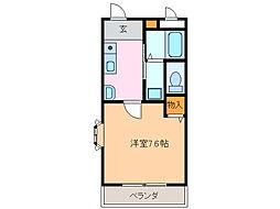愛知県名古屋市緑区鳴子町1丁目の賃貸アパートの間取り