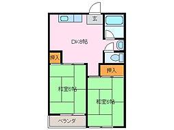 第2コーポ緑[1階]の間取り