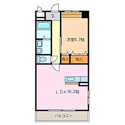 愛知県名古屋市緑区清水山2丁目の賃貸マンションの間取り