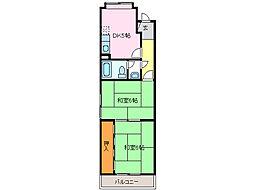 愛知県名古屋市緑区平手南2丁目の賃貸マンションの間取り