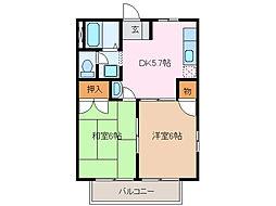 愛知県名古屋市緑区大高台1丁目の賃貸マンションの間取り