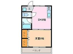 アクセスコートII[1階]の間取り