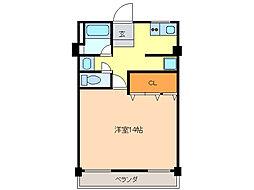 ヤカタハイツ[3階]の間取り