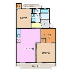 愛知県名古屋市緑区鳥澄3丁目の賃貸マンションの間取り