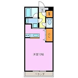 ストューディオエヌ[1階]の間取り