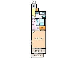 愛知県名古屋市緑区大高町字平地の賃貸アパートの間取り