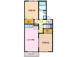 サンピア高根台[2階]の間取り