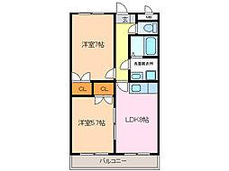 シャルル鳴海[2階]の間取り