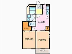 愛知県名古屋市緑区大高町字亀原の賃貸アパートの間取り